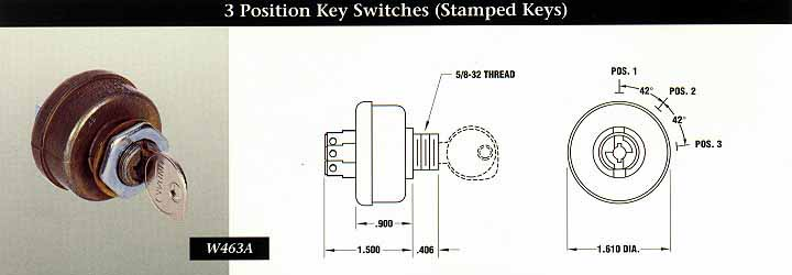 W463 indak switches 3 position key switches (stamped keys) indak switches  at bakdesigns.co